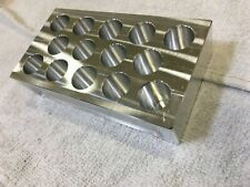 "END MILL DRILL HOLDER RACK ORGANIZER 3/4"" DIAMETER 14 HOLES KENNAMETAL SECO NEW"