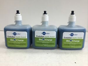 Lot of (3) InSinkErator CG Evolution Septic Assist Bio Charge Cartridge, Blue