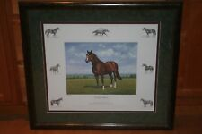 RICHARD STONE REEVES NORTHERN DANCER FRAMED HORSE PRINT LIMITED EDITION #340/600