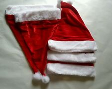 5 pcs christmas red santa hats christmas party/ costume decoration