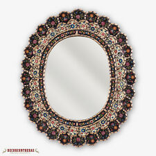 "Decorative Cuzcaja Oval Wall Mirror 23.6""- Peruvian Accent Mirror for Wall decor"