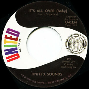 UNITED SOUNDS ITS ALL OVER BABY Soul Northern Motown
