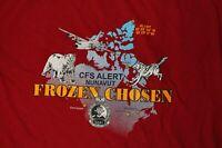 Canadian Armed Forces Base CFS Alert Nunavut Frozen Chosen T-Shirt Large