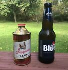 Iroquois Beer Indian Head Cone Top Beer Can & Cap Hard To Find Excellent ! WOW !