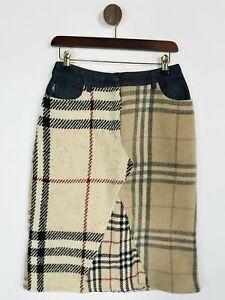 Burberry Women's Knit Nova Check Pencil Skirt   UK10   Beige