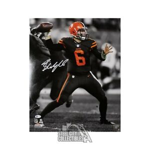 Baker Mayfield Autographed Cleveland Browns 16x20 Photo - BAS COA (B&W)