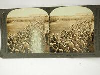 Antique Stereoview Card. Keystone. V18878 Bringing In 1900 German Prisoners