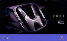 2004 Honda CR-V Owners Manual User Guide