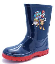 BOYS KIDS NAVY PAW PATROL WELLIES WELLINGTON SPLASH RAIN INFANTS BOOTS UK 4-10
