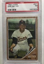 1962 Topps # 371 Earl Battey PSA NM 7