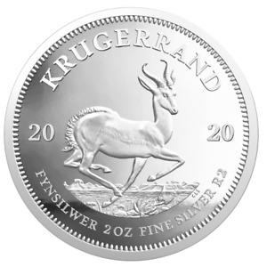 Südafrika - 2020 - Krügerrand - im Etui - 2 Oz Silber PP