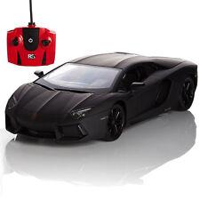 Official Black Lamborghini Aventador RC Radio Remote Controlled Car Scale 1.24