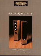 Sonique 6.5 Original Speaker Spec Sheet