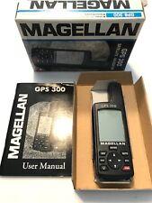 Magellan GPS 300 Satellite Navigator box & manual Tracks 12 Satellites