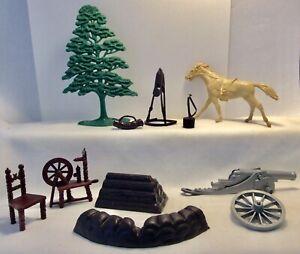 Vintage Marx Revolutionary War Set 1950s Parts Accessories