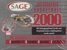 2000 SAGE Autographed Basketball Box