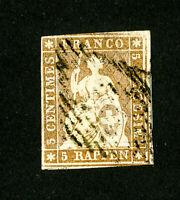 Switzerland Stamps # 15 4 Margins Used Scott Value $160.00
