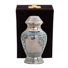 Blue Baby Keepsake Urns - Mini Infant Urn for Baby Girl or Boy - With Free Box &