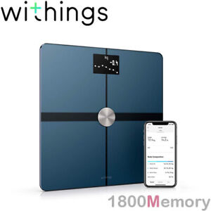 GENUINE Withings Nokia Body+ Composition BMI Wi-Fi Smart Scale 8 Users Black