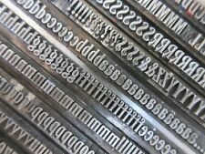 Letterpress Lead Type 18 Pt Woodward Condensed Inland Type Foundry D37