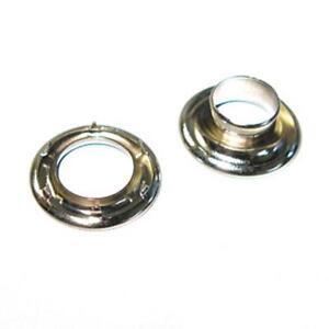 #2 Nickel Spur Grommets Nickel Plated Solid Brass Hardware - 100 Pack