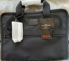 NWT! Tumi Alpha Slim Large Screen Laptop Briefcase Ballistic Nylon