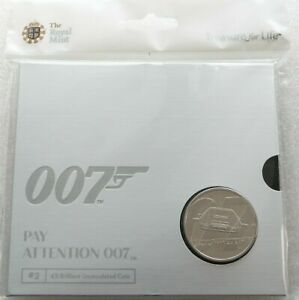 2020 James Bond Pay Attention 007 £5 Five Pound Coin Pack Sealed Uncirculated