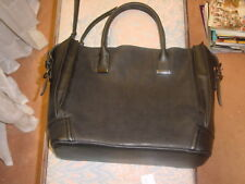 Steve Madden Black handbag A-1 unused condition  Leather 3 Pouches Nice Zippers