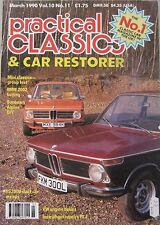 Practical Classics 03/1990 featuring BMW, Hillman, Wolseley, Austin, Ford,Jaguar