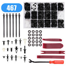 435Pcs Car Retainer Clips Auto Fasteners Push Trim Clips Pin Rivet Bumper Kit