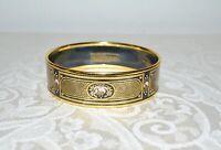 Preloved MICHAELA FREY Austria Art Deco Vintage Enamel Bangle Bracelet 70