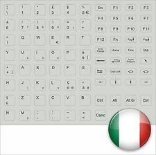 TASTATURAUFKLEBER ITALIENISCH GRAU GREY ITALY KEYSTICK ITALIAN ALL KEYS FSC ASUS