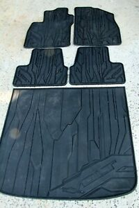 OEM Front Rear Cargo Lot of 5 All Weather Rubber Floor Mats Chevy Volt Factory