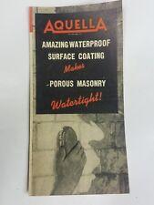 Vintage 1950's Aquella Waterproof Surface Coating Prima Products Inc.