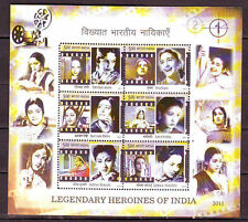 India Miniature Sheet Stamps Heroines of India 2011