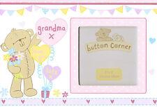 "GRANDMA LOVE YOU LOTS PHOTO FRAME CUTE BEAR BIRTHDAY / MOTHERS DAY GIFT 3"" X 3"""