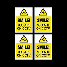 CCTV Sign, Sticker Pack of 4 - 150mm x 200mm (A5) - Security, Camera - (MISC16)