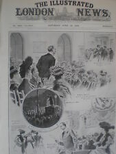 Fight for the North-West manchester seat 1908 print