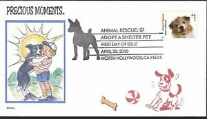 DOG AND BOY  PRECIOUS MOMENTS  LOVE   ANIMAL RESCUE S PET FDC- DWc  CACHET