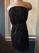 New Trixxi Juniors Medium Black Mini Dress Glitter