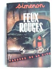 Georges Simenon feux rouges roman édition originale 1953