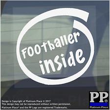 1 x Footballer Inside-Window,Car,Van,Sticker,Sign,Vehicle,Ball,Field,Pitch,Boots