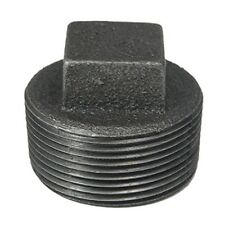 "1/4"" BLACK MALLEABLE IRON PLUG fitting pipe npt"
