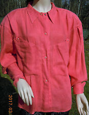 THIERRY MUGLER BLOUSE RIPE PEACHY ROSE SNAPS 2 POCKET TAG 42 ITALY SIZE 6 USA