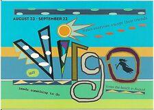 Virgo August 23 - September 22 Sign of the Zodiac Modern Rack Postcard