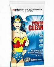 EMTEC Power Cleaning Multi Surfaces Wipe FOR ALL Glass Plastic NEW Wonder Woman