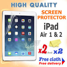 2 new High Quality Screen protective protection film foil for apple iPad Air 1 2
