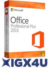 Microsoft Office 2016 Professional Plus 32/64 Bit OEM Lizenz für 1 PC MS Pro Key