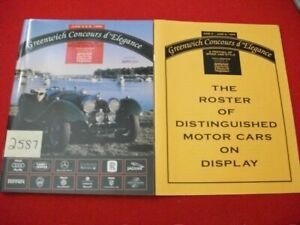 GREENWICH CONCOURS d' ELEGANCE JUNE 5 & 6TH 1999 SHOW PROGRAM COLLECTIBLE EXC.
