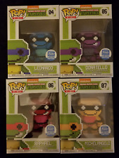 Exclusive 8-Bit Teenage Mutant Ninja Turtles Neon Funko Pop TNMT Limited Edition